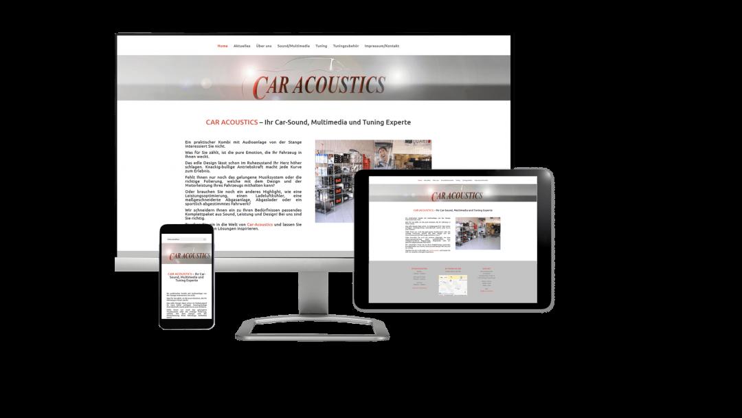Webseite Car-Acoustics