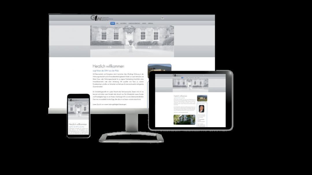 Webseite GfW-Wohnen